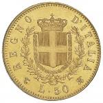 6a09a558c7 Vittorio Emanuele II di Savoia 1861 1878 Regno d'Italia 50 lire 1864 Scudo  sannitico
